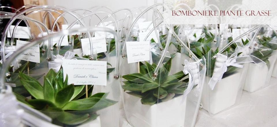 Eccezionale Bomboniere con piante grasse QH46